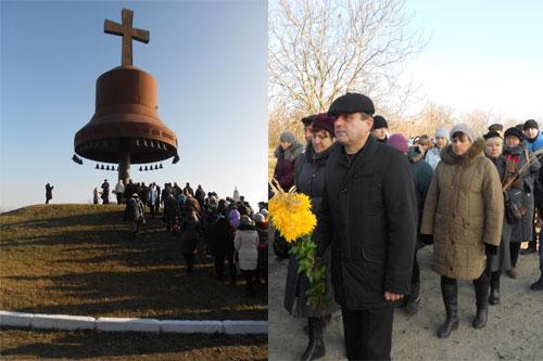 Делегація Гребінківського району побувала на Кургані скорботи